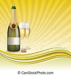 champagne, fond
