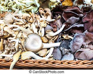 champignons, frais, vente