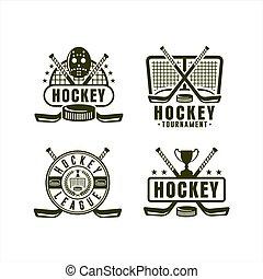 championnat, ligue, hockey, collection, logo
