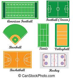 champs, ensemble, sport, games.