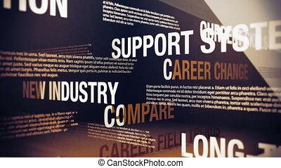 changement carrière, questions, mots