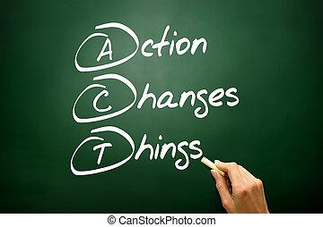 changements, action, acronyme, business, choses, main, dessiné, concept, (act)