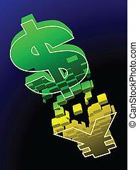 changements, yuan, dollar, nous, chinois