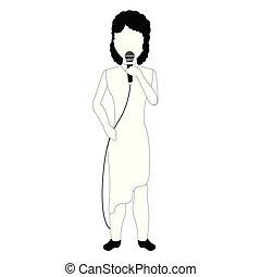 chant, avatar, femme