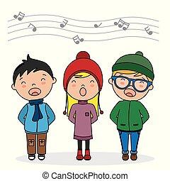 chant, enfants