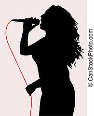 chant, femme