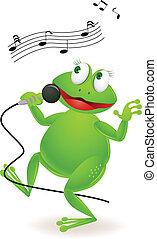 chant, grenouille