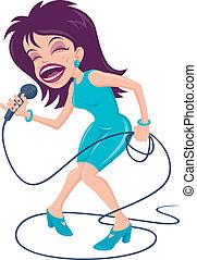 chanteur, femme, pop