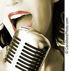 chanteur, retro