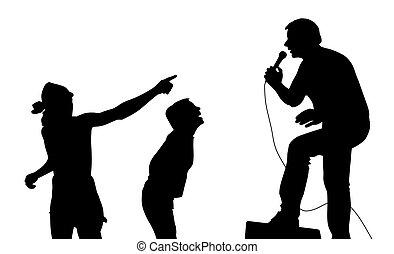 chanteur, ventilateurs