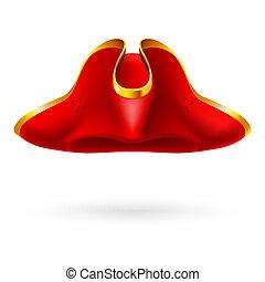 chapeau, a armé, rouges