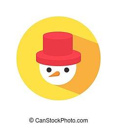 chapeau bonhomme neige, rouges