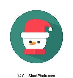 chapeau bonhomme neige, santa