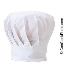 chapeau, chef, blanc