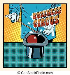 chapeau, cirque, illusionniste, business, magie