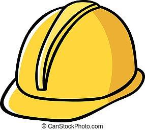 chapeau, construction, ouvrier dur