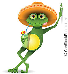 chapeau, grenouille