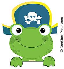 chapeau, grenouille, pirate