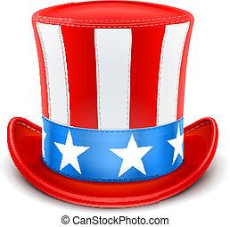 chapeau haut de forme, jour, usa, indépendance