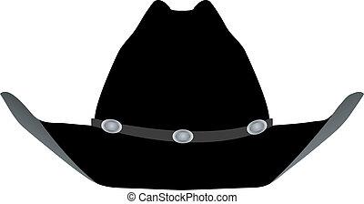 chapeau noir, cow-boy