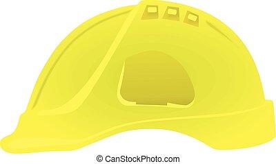 chapeau, vecteur, dur, jaune, illustration