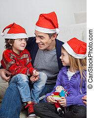 chapeaux, engendrez enfants, santa