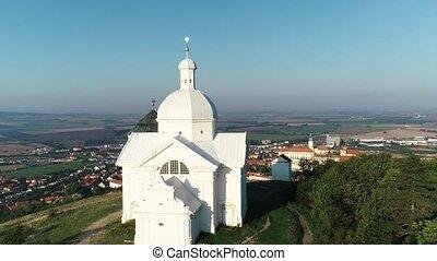 chapelle, saint, vue aérienne, sebastian
