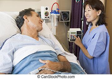chaque, conversation, autre, patient, docteur
