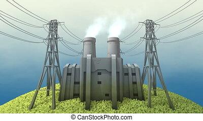 charbon, centrale électrique