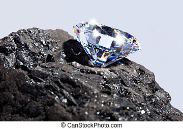 charbon, diamant