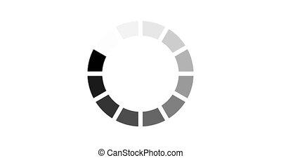 chargement, -, arrière-plan animation, cercle, blanc, icône