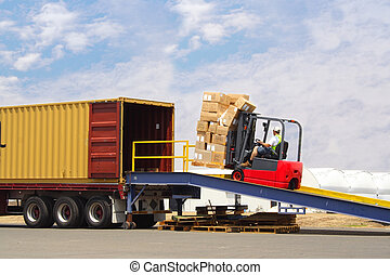 chargement, camion
