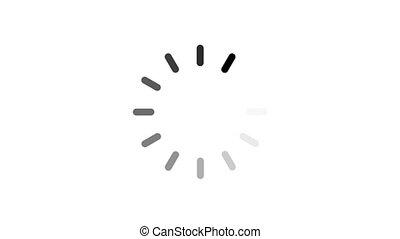 chargement, -, channel., arrière-plan animation, alpha, cercle, blanc, icône