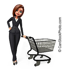 chariot, affaires femme