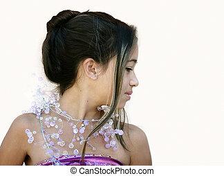 charmant, fille asiatique