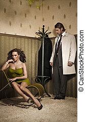 charme, photo, style, couple, séduisant