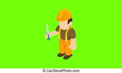 charpentier, icône, animation