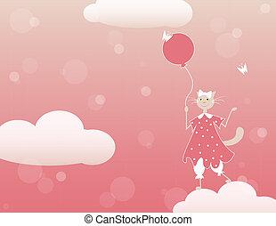 chat, ballon