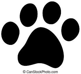 chat, chien, patte