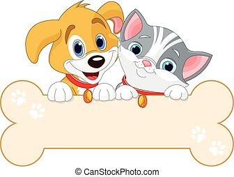 chat, chien, signe