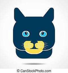 chat, créatif, figure