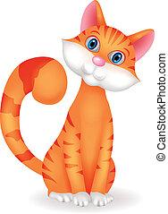 chat, dessin animé, caractère