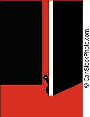 chat, porte