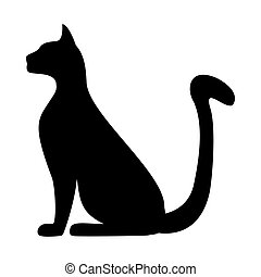 chat, silhouette