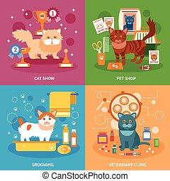 chats, concept, ensemble