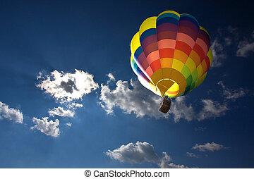 chaud, balloon, air