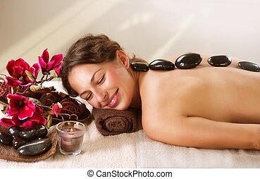 chaud, spa., pierre, dayspa, massage.
