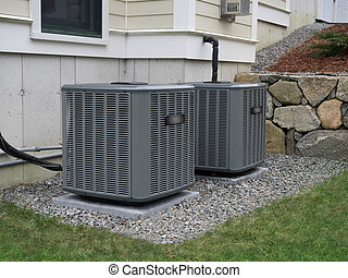 chauffage, unités, conditionnement, air