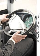 chauffeur, autobus