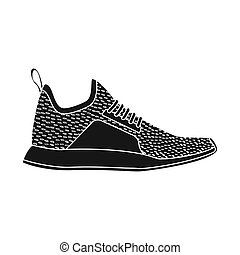 chaussure, ensemble, illustration., bitmap, conception, chaussures, pied, logo., stockage